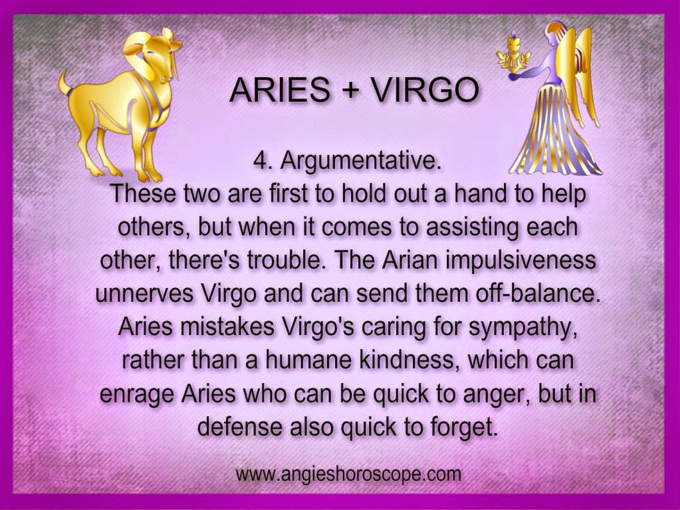 How compatible are aries and virgo