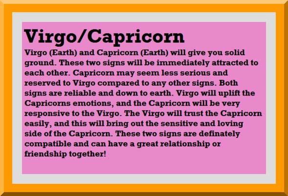 Horoscope match virgo