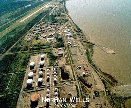 Aerial view of Norman Wells