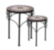 Bistro 2 Piece Table Set Mosaic Design.p