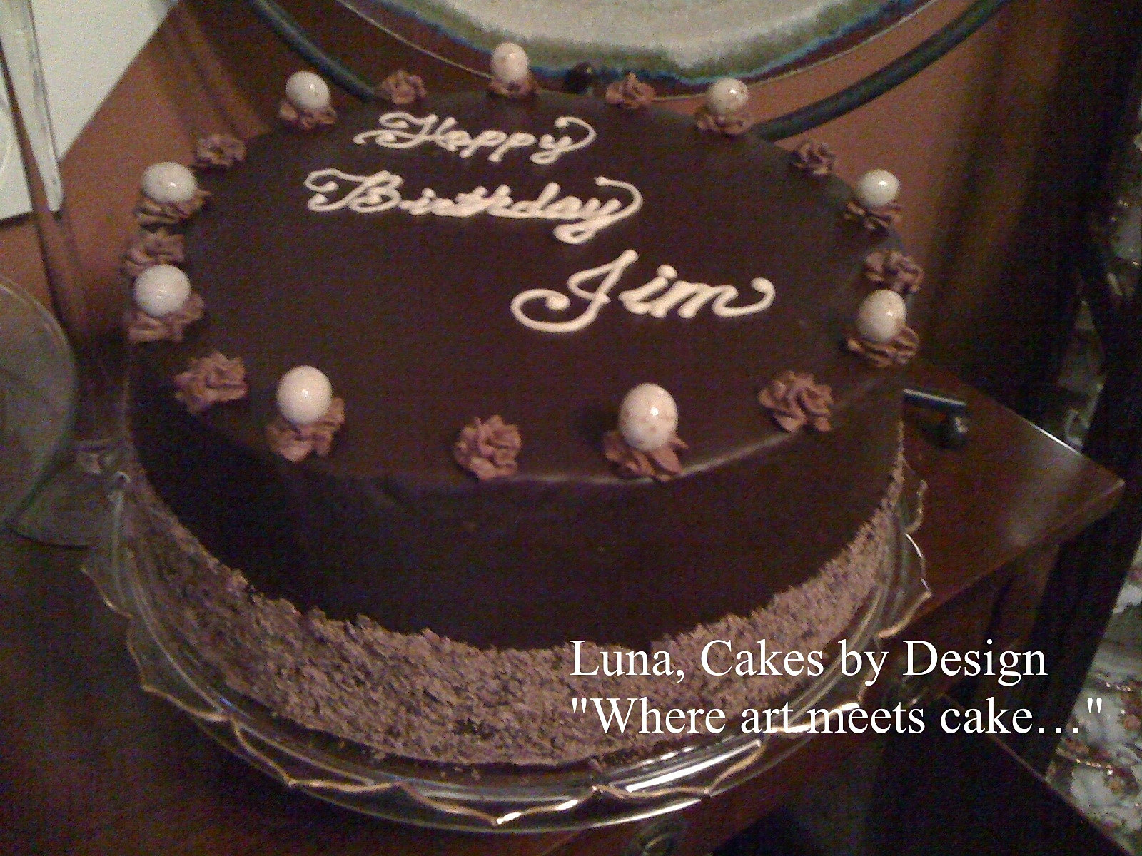 Birthday Cake Photos Chocolate Ganache : Luna, Cakes by Design Wedding Cakes Sharon Springs, NY ...