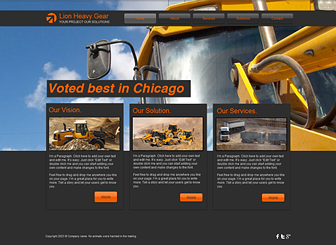 Super Load Movers Template - Take your construction company online with this bold website template. Advertise your services and rates by adding text and uploading your own photos. Start editing to create a customized website that represents your business!