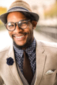 African American smiling male