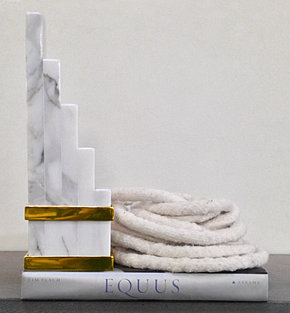 FALLON STEEL BOUND MARBLE BOOKENDS