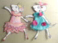 Angelina cut-out doll teplate