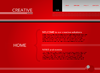 Creative Solutions Template - A bold yet clean site with a big, clear navigation menu. Simple to customize with your logo. Perfectly suited to promoting your brand.