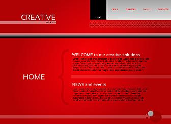 Soluções Criativas Template - Um site arrojado, mas clean com um grande e claro menu de navegação. Simples de personalizar com seu logotipo. Perfeitamente adequado para promover sua marca.