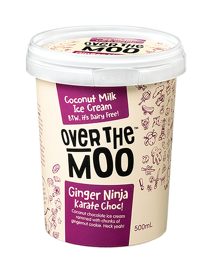Ginger ninja karate choc coconut milk ice cream bottom line is we put them together in this coconut ice cream and together they make the world a better place ccuart Gallery