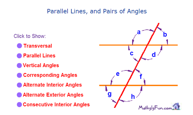 Angles in Parallel Lines – Angles and Parallel Lines Worksheet