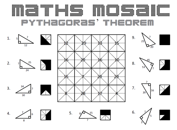 Pythagoras Theorem – Math Pythagorean Theorem Worksheets