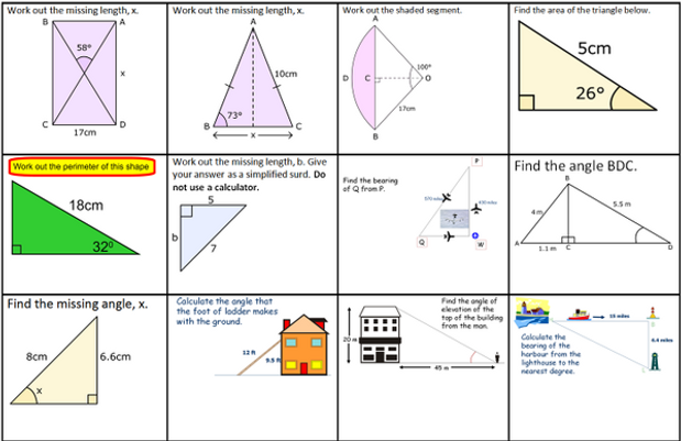 Trigonometry in right-angled triangles   Miss Brookes Maths