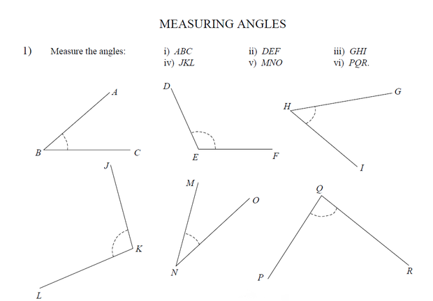 Naming Estimating Measuring and Drawing Angles – Angle Measure Worksheet