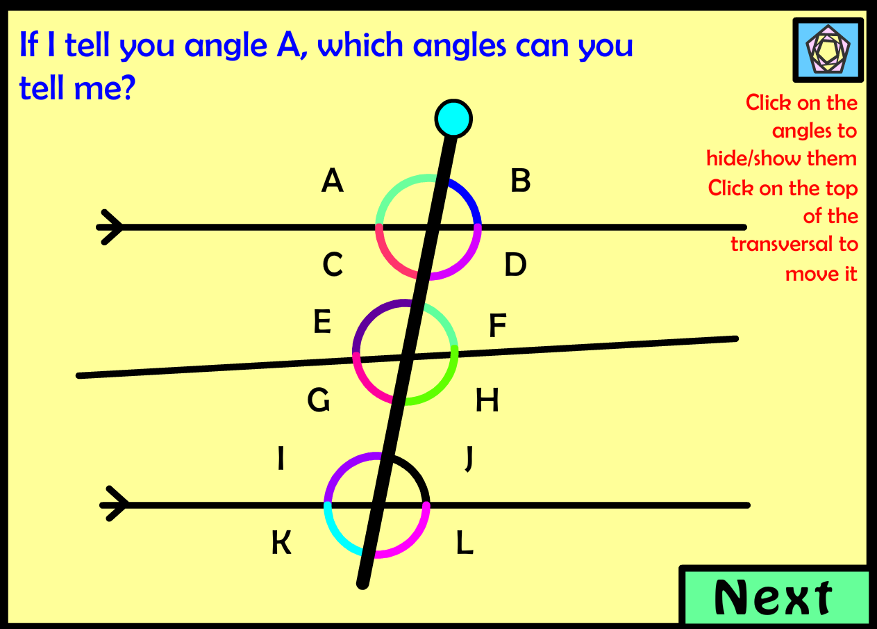 ... angles. Pupils have to colour the angles in in different colours