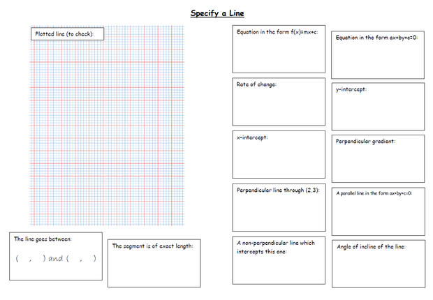Straight Line Graphs Part 3 Parallel and Perpendicular Lines – Equation of a Line Worksheet