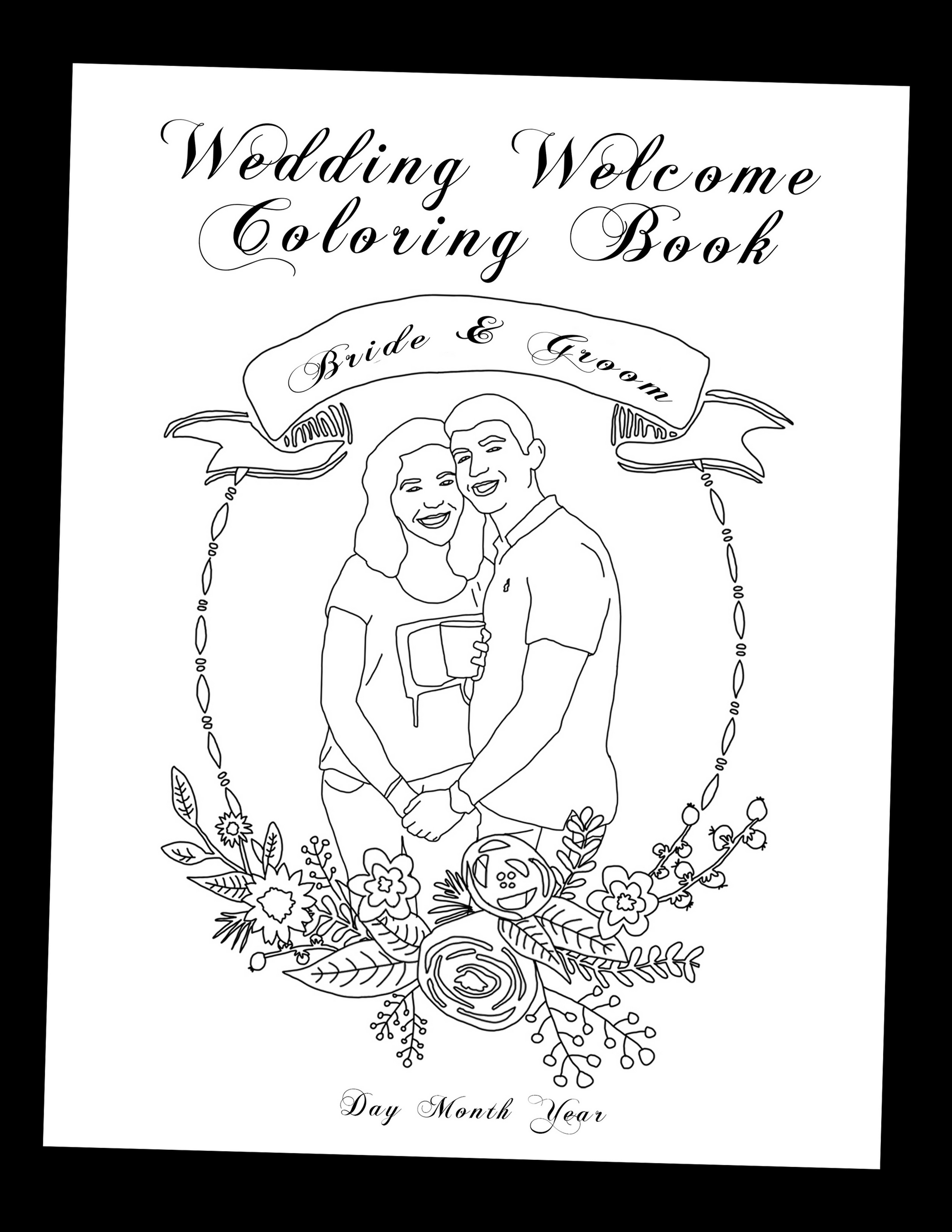 Wedding Welcome Bag Coloring Book Package