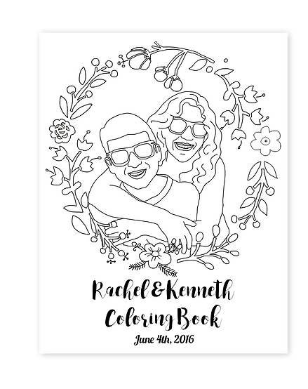 custom wedding coloring books - Custom Coloring Book