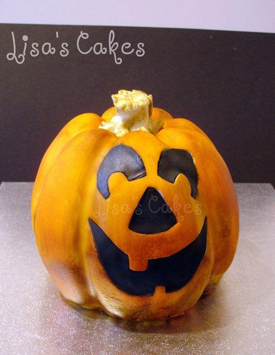 3d Jack O Lantern Cake