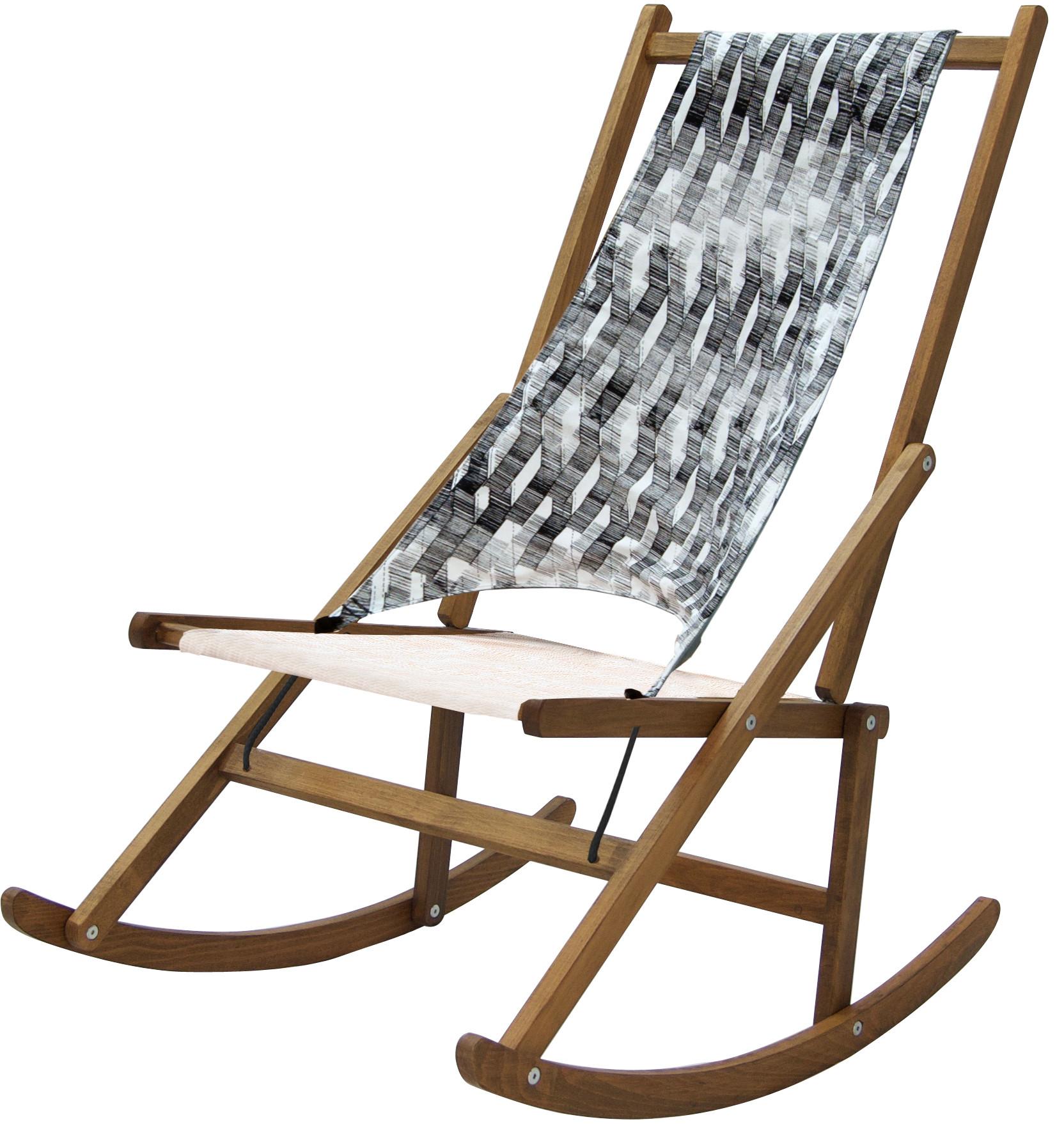 Folding Rocking Deck Chair Limited Edition WAWA