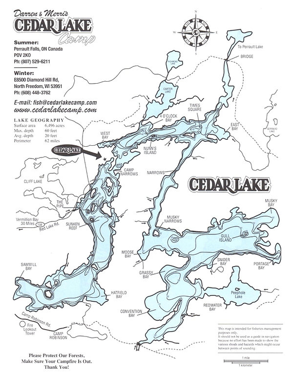 Cedar Lake Camp Map