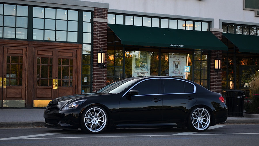 Fitted Wheels Infiniti G37s On Fitted F2