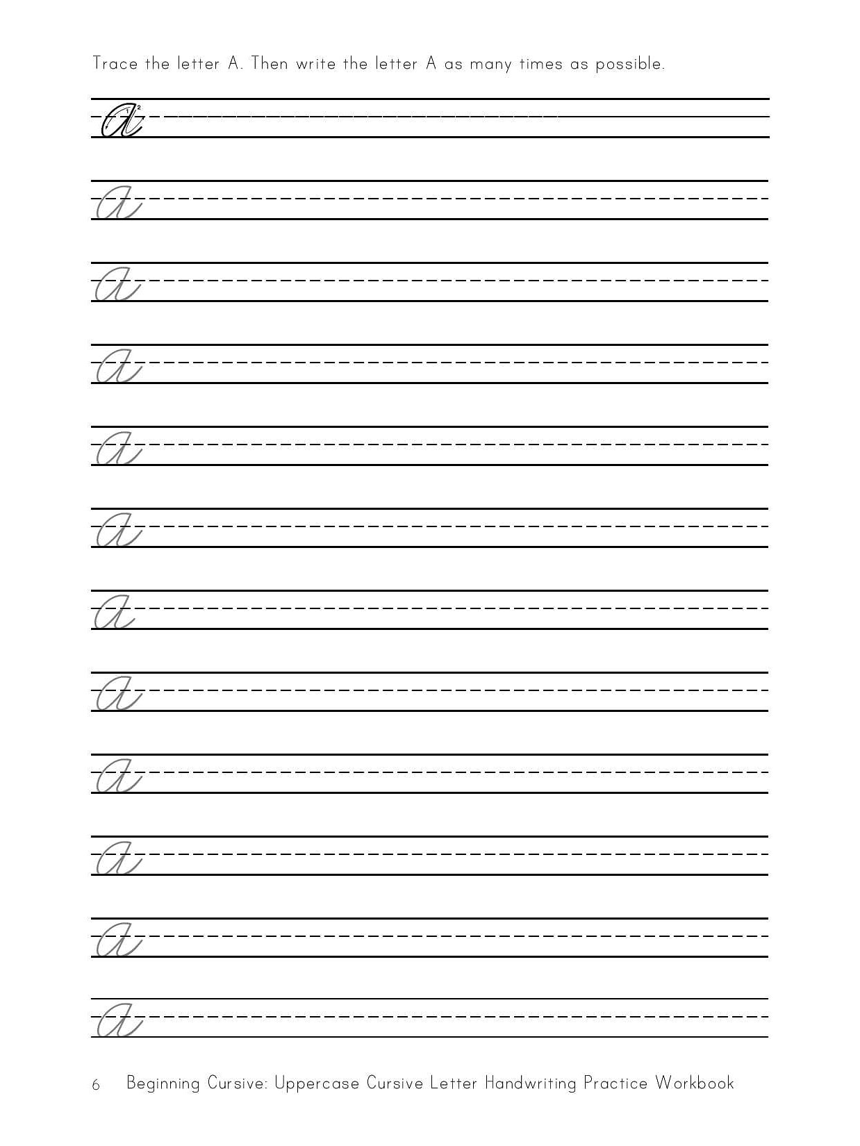 Handwriting worksheets cursive pdf