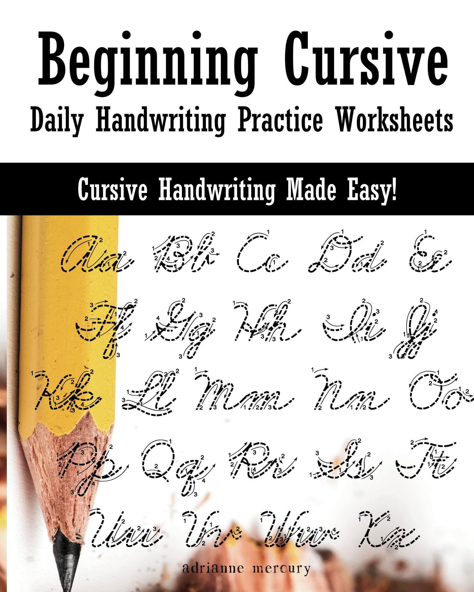 Cursive words worksheets free