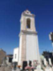 Torre Sineira, século XVIII. Cemitério Municipal. © António Moreira, 2018. Arquivo O Riomaiorense.
