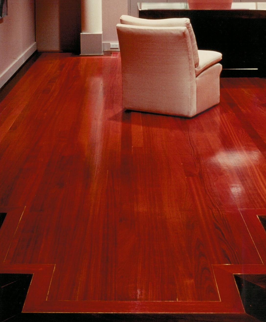 Brazilian ebony hardwood flooring - Bordered Brazilian Cherry Flooring