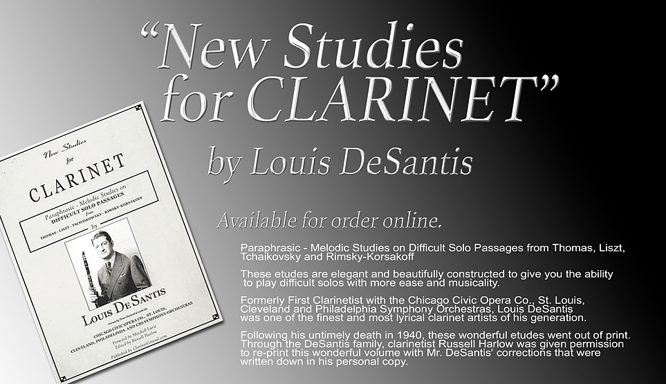 "DeSantis ""New Studies for Clarinet"""