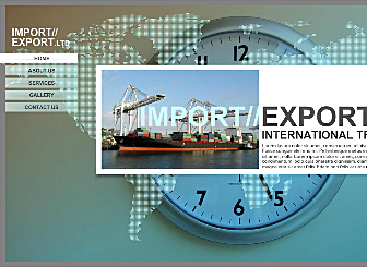 Global Freight Template - For a smooth, professional, global themed website, this design will set the precedence for all other international freight sites. Add your service info, image gallery and contact form.