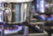 Pot sur brûleur à gaz