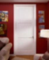 Painted 3-Panel Door