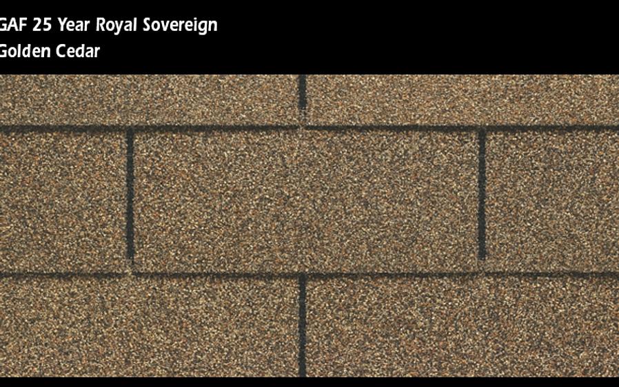 Upgraded Gaf 25 Year Royal Sovereign