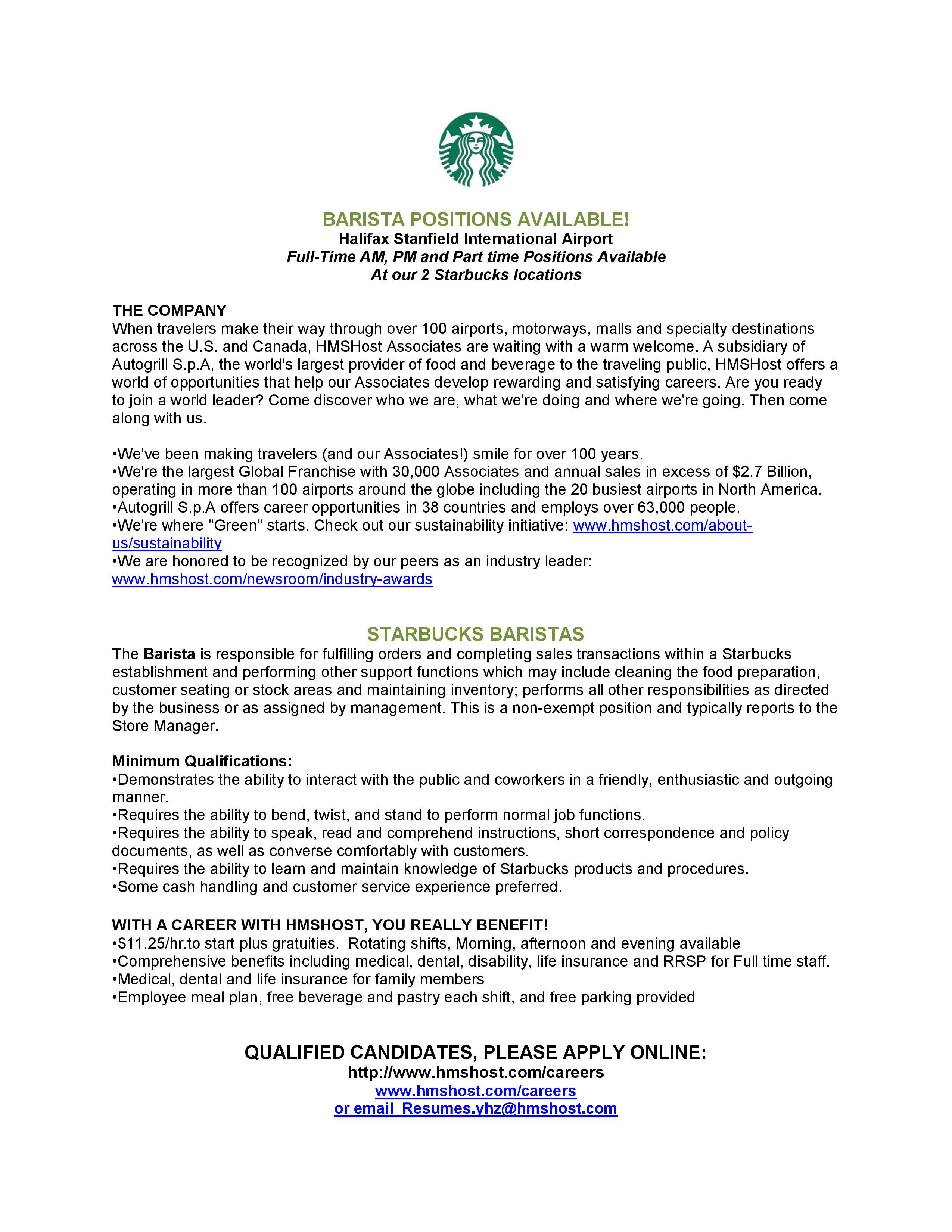 Charming Resume For Barista Ideas - Resume Ideas - namanasa.com