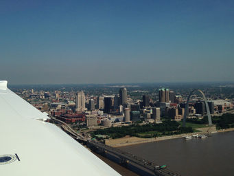 Flying over St. Louis
