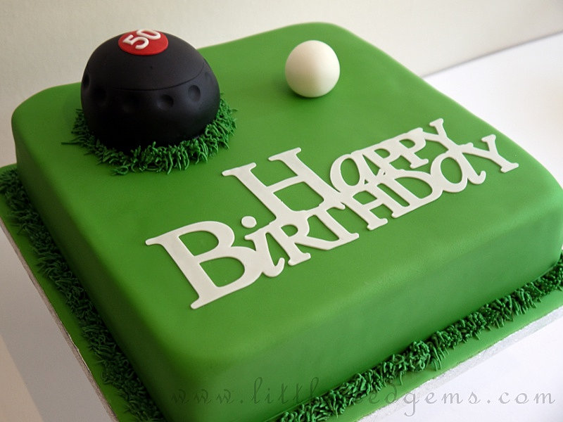 Lawn Bowls Cake Decorations
