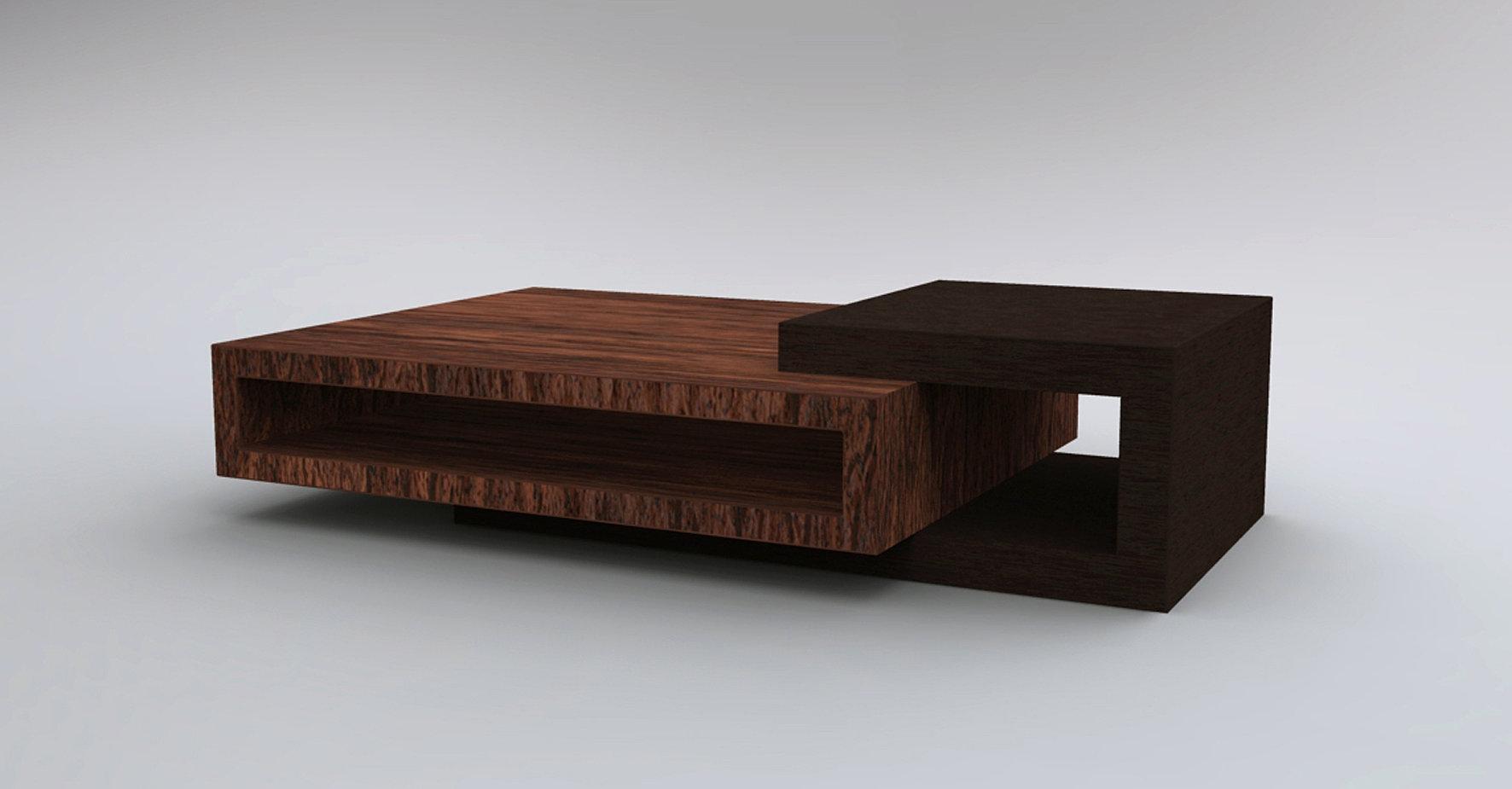 Mesa de madera para centro de sala