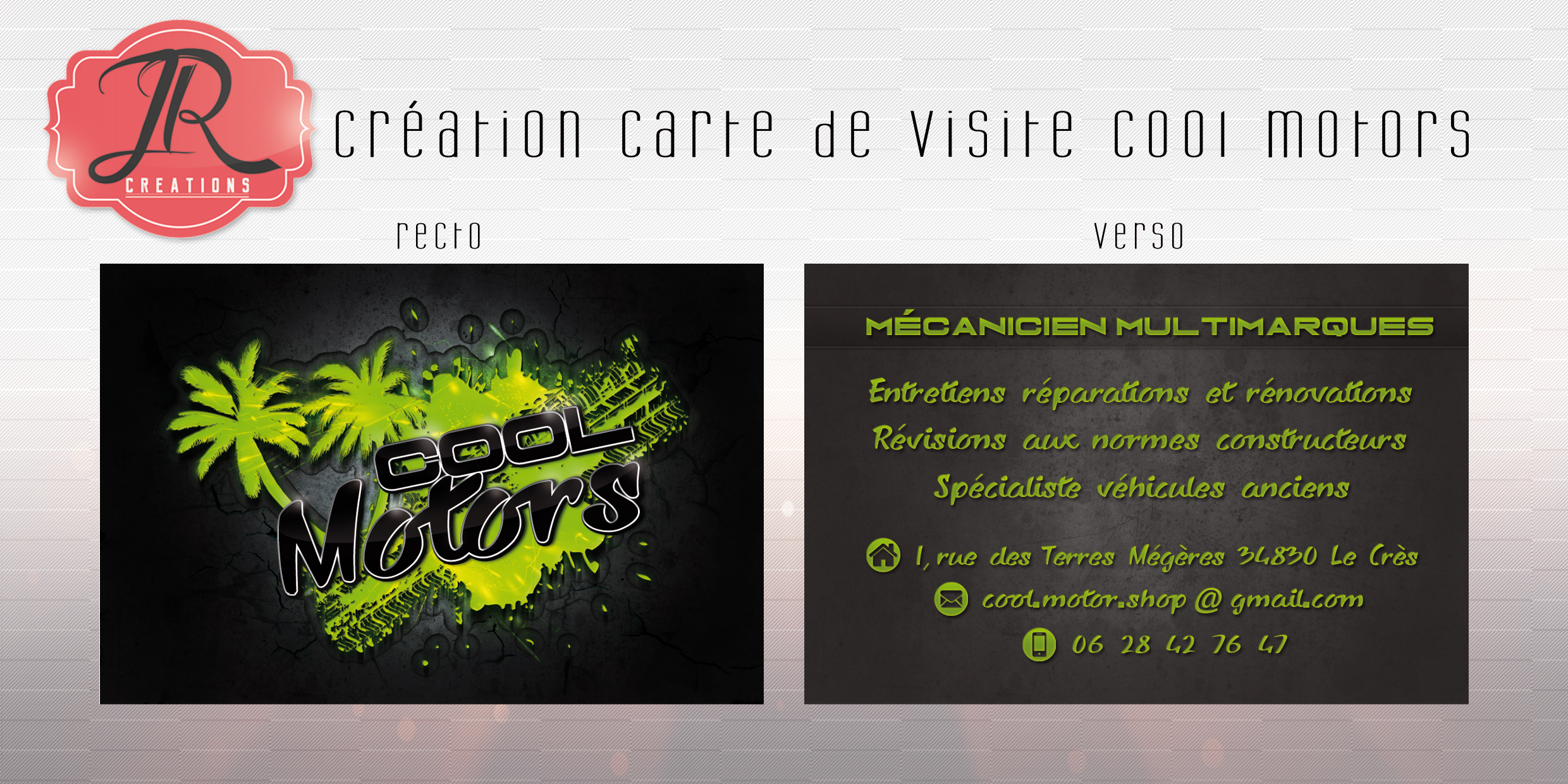 Creation Carte De Visite R V Cool Motors