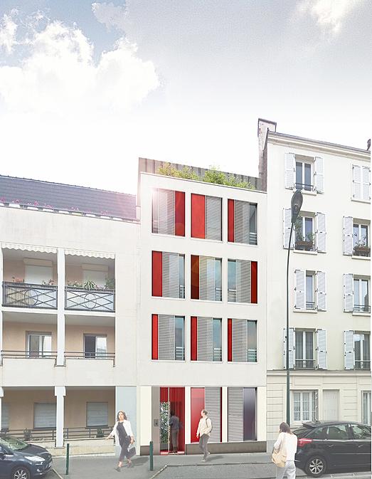 6 logements o p h vincennes emergence architectes. Black Bedroom Furniture Sets. Home Design Ideas