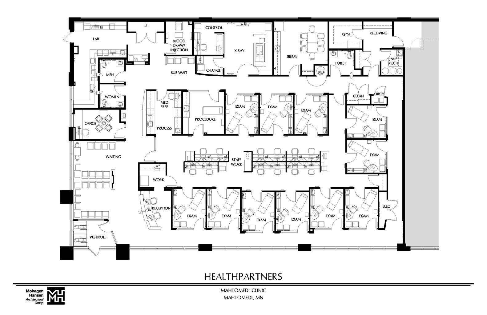 Cs interior design for X ray room floor plan