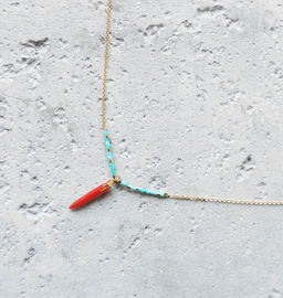 "Elise Tsikis: ""FANA"" Turquoise - COLLIER / NECKLACE 