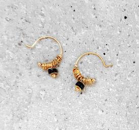 "Elise Tsikis: BOUCLES D\'OREILLES / EARRING ""DISME"" Noir | Jewelry,Jewelry > Earrings -  Hiphunters Shop"
