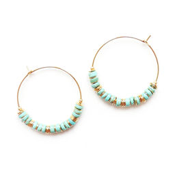 "Elise Tsikis: ""ELLAS"" Craie - BOUCLES D\'OREILLES / EARRING 