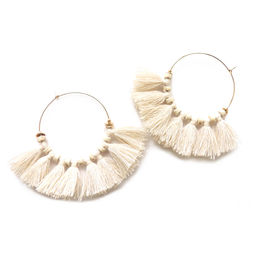 "Elise Tsikis: ""EREN"" pompon - BOUCLES D\'OREILLES / EARRING 