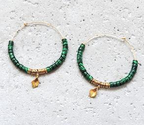 "Elise Tsikis: BOUCLES D\'OREILLES / EARRING ""EREN"" Vert | Jewelry,Jewelry > Earrings -  Hiphunters Shop"