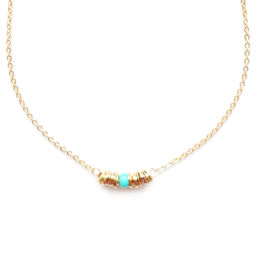"""Elise Tsikis: """"EGE"""" Turquoise - COLLIER / NECKLACE 