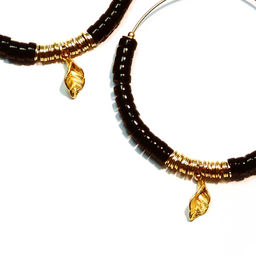 "Elise Tsikis: BOUCLES D\'OREILLES / EARRING ""EREN"" Noir 