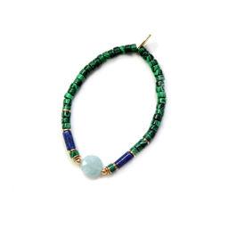 "Elise Tsikis: ""EFE"" vert - BRACELET ELASTIQUE   Jewelry,Jewelry > Bracelets -  Hiphunters Shop"
