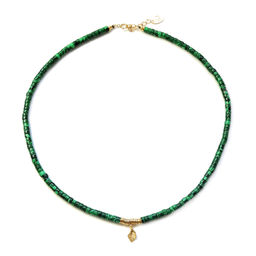 "Elise Tsikis: COLLIER / NECKLACE ""ELYES"" Vert 