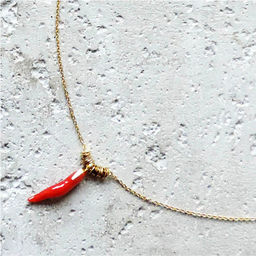 """Elise Tsikis: """"EGE"""" corail - COLLIER / NECKLACE 